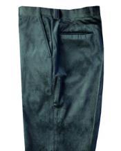 Velvet Pants Flat Front