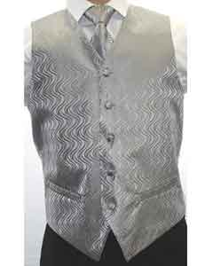 Grey 4-Piece Wedding Vest