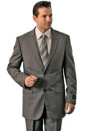 ID#GE8949 Man Made Fiber/Rayon Grey Classic affordable suit online Reduced Price