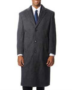 Grey Herringbone Tweed Cashmere