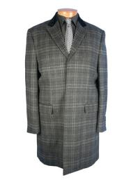 Plaid Windowpane Pattern overcoats