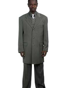 Grey Pinstripe Suit &