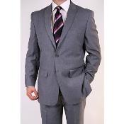 ID#FJ7829 Grey Two-button Peak Collared Suit