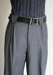 ID#FV9302 Superior fabric 150's Wool fabric Wide Leg Dress Pants / Slacks Grey