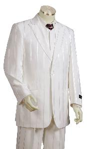 Mens Ivory Color Zoot Suit