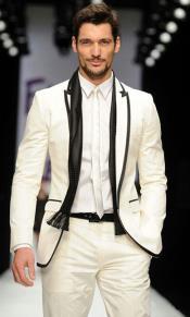 White Groom Tuxedo