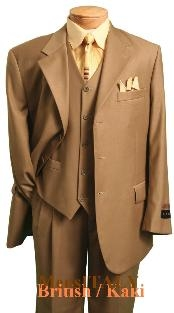 British/khaki/Camel Classic three piece