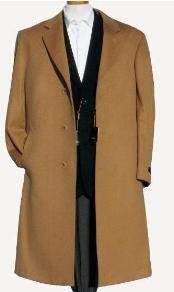 Harward Luxurious Camel ~ Khaki~Bronz soft finest grade of Cashmere & Wool fabric overcoats for men