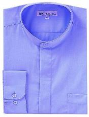 Collarless Dress Shirt with