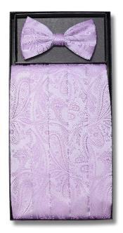 Lavender Paisley Design Bowtie