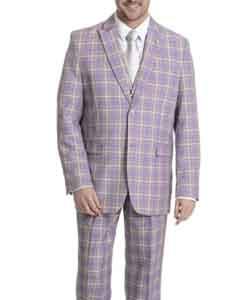 3-piece Lavender Plaid Suit