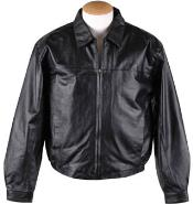 Zip-Out Liner Leather skin JD - Big and Tall Bomber Jacket Dark color black
