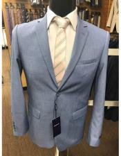 ID#KO18397 Mens 2 button Baby ~ Ocean ~ Light Blue Perfect for wedding Suit (Business / Wedding Looking)