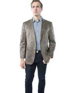 Brown Mens Faux Leather