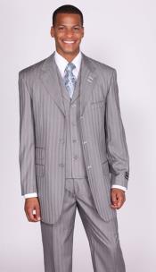 gray Stripe ~ Pinstripe