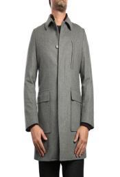 Wool Blend Light Grey