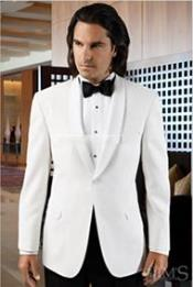 Mens Long Length White Tuxedo