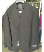 No button Mandarin Suit