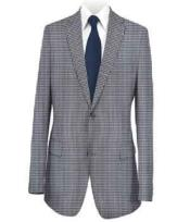 Coat Medium Blue Checked
