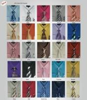ID#PN92 Milano Moda Dress Cheap Fashion Clearance Shirt Sale Online For Men w/ Matching Tie And Handkerchief Combo Style Multi-Color