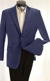 ID#KA1238 Fashion Two buttons Velvet Jacket navy blue colored Best Cheap Blazer Suit Jacket For Affordable Cheap Priced Unique Fancy For Men Available Big Sizes on sale Men Affordable Sport Coats Sale