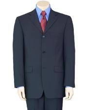Mens Navy Blue Wool Suit