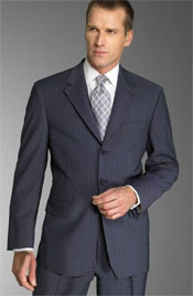 Navy With Small Pinstripe