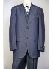 Blue 3Piece Wide Zoot