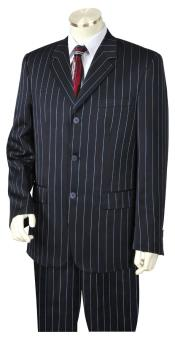 Stripe Notch Lapel Flap