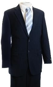 ID#FG4578 Navy Tone/Tone Pinstripe Designer affordable suit online Reduced Price