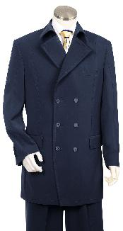 ID#HK5647 Luxurious Navy Fashion Zoot Suit