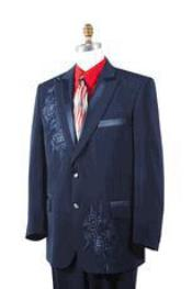 ID#AA451 Navy Man Made Fiber Woven Rhinestone Entertainer Suit Best Inexpensive ~ Cheap ~ Discounted Blazer For Affordable Cheap Priced Unique Fancy For Men Available Big Sizes on sale Men Affordable Sport Coats Sale