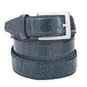 Blue Ostrich Leg Belt