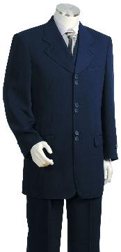 ID#HY3472 3 Piece Fashion Navy Zoot Suit