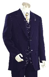 ID#HD9345 High Fashion Navy Zoot Suit