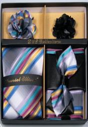 Ellissa Straight Stripes Neck