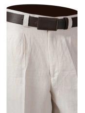 Pleat Off White Linen