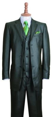 Green Fashion Suit Edged