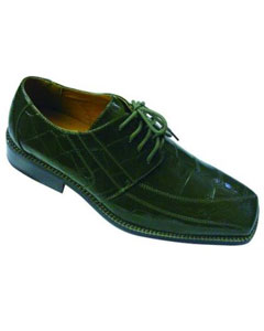 Olive Oxford Faux Leather