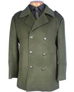 double breasted coat Olive