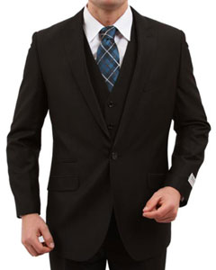 ID#KX7806 One Button Inexpensive ~ Cheap ~ Discounted Clearance Sale Extra Slim Fit Prom Black color