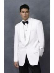 ID#NG7820 Dinner Jacket in White & Off White Wedding Suits For Men For Sale Shawl Collar Single Buttons + Free Bowtie