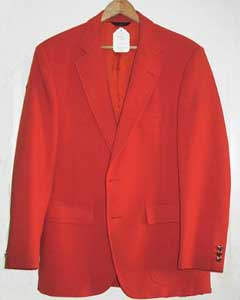 ID#ORG8912 Bright Orange 1970s Best Cheap Blazer Affordable Cheap Priced Unique Fancy For Men Available Big Sizes on sale For Men Affordable Sport Coats Sale
