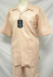 informal casual Peach Linen