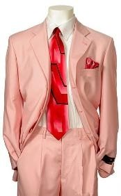 Mens Pink Color Suit