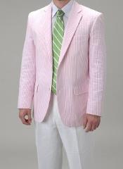 Pink Seersucker suit Sportcoat