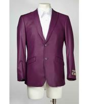 buttons Slim Fit Purple