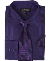 Purple Shadow Striped Tie