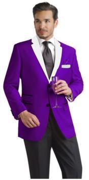 Purple And White Lapel