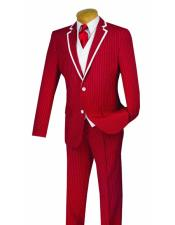 Mens Red Suits, Red Sport Coat, Overcoats, Cheap Red Suits For Sale